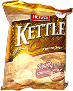 Herr's Kettle Cooked Potato Chips Philly Cheese Steak