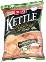 Herr's Kettle Cooked Sour Cream & Onion Potato Chips
