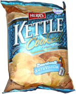 Herr's Kettle Cooked Boardwalk Salt & Vinegar Potato Chips