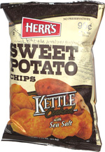 Herr's Sweet Potato Chips Kettle Cooked with Sea Salt