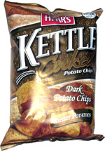 Herr's Kettle Cooked Dark Potato Chips Russet Potatoes
