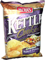 Herr's Kettle Cooked Potato Chips Loaded Baked Potato