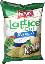 Herr's Lattice Cut Ranch Kettle Cooked Potato Chips