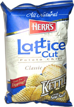 Herr's Lattice Cut Potato Chips Classic Kettle Cooked with Sea Salt