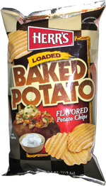 Herr's Loaded Baked Potato Flavored Potato Chips