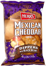Herr's Mexican Cheddar Dippers with Black Beans Tortilla Chips