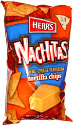 Herr's Nachitas Nacho Cheese Flavored Tortilla Chips