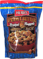 Herr's Peanut Butter Filled Pretzel Nuggets