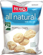 Herr's All Natural with Sea Salt Popped Chips