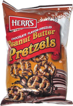 Herr's Chocolate Flavor-Dipped Peanut Butter Pretzels