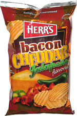 Herr's Bacon Jalape�o Cheddar Rippled Potato Chips