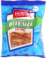Herr's Sourdough Bite Size Hard Pretzels