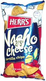 Herr's Nacho Cheese Tortilla Chips