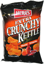 Herr's Extra Crunchy Kettle Cooked Honey Sriracha Potato Chips