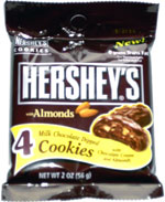 Hershey's with Almonds Milk Chocolate Dipped Cookies