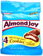 Almond Joy Milk Chocolate Dipped Cookies