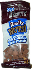 Hershey's Really Nuts! Milk Chocolate Cocoa Peanuts