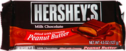 Hershey's Milk Chocolate filled with Creamy Peanut Butter
