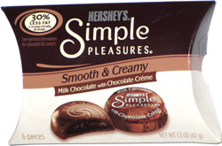 Hershey's Simple Pleasures Smooth & Creamy Milk Choclate with Chocolate Crème