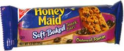 Honey Maid Soft Baked Snack Bars Oatmeal Raisin
