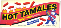 Hot Tamales Chewy Cinnamon Flavored Candies (retro box)