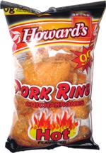 Howard's Pork Rinds Hot Flavored