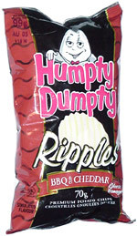 Humpty Dumpty BBQ & Cheddar Ripples Premium Potato Chips