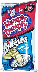 Humpty Dumpty Ridgies Regular Potato Chips