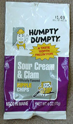 Humpty Dumpty Sour Cream & Clam Ripple Chips