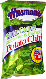 Husman's Wild Onion Green Onion Flavored Potato Chips