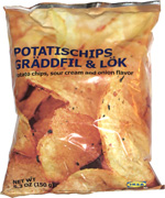 Potatischips Gräddfil & Lök