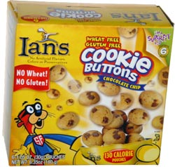 Ian's Wheat Free Gluten Free Cookie Buttons Chocolate Chip
