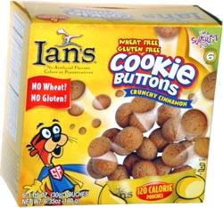 Ian's Wheat Free Gluten Free Cookie Buttons Crunchy Cinnamon