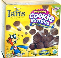 Ian's Organic Cookie Buttons Double Chocolate Chip