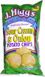 J. Higgs Sour Cream & Onion Potato Chips