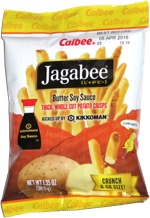 Jagabee Butter Soy Sauce Thick, Whole Cut Potato Crisps