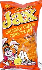 Jax Crunchy Cheddar Cheese Corn Twists