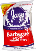 Jays Barbecue Flavored Potato Chips
