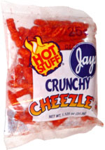 Jays Hot Stuff Crunchy Cheezles