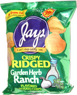 Jays Crispy Ridged Garden Ranch Herb Flavored Potato Chips