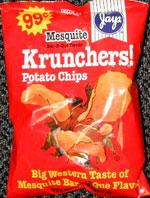 Jays Krunchers! Mesquite Bar-B-Que Flavor Potato Chips