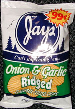 Jays Onion & Garlic Ridged Potato Chips