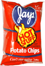 Jays Hot Stuff Potato Chips
