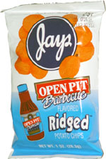 Jays Open Pit Barbecue Flavored Ridged Potato Chips