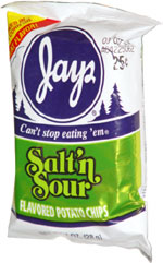 Jays Salt 'n Sour Flavored Potato Chips