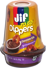 Jif To Go Dippers Chocolate Silk with Pretzels