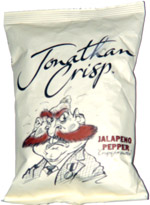 Jonathan Crisp Jalapeno Pepper Crisps for Snobs