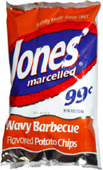 Jones' Marcelled Wavy Barbecue Flavored Potato Chips