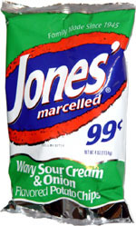 Jones' Marcelled Wavy Sour Cream & Onion Flavored Potato Chips