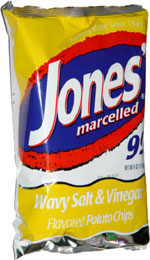 Jones' Marcelled Wavy Salt & Vinegar Flavored Potato Chips
